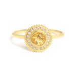 Malika Citrine Diamond Ring - Manari Design