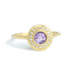 Malika Amethyst Diamond Ring - Manari Design