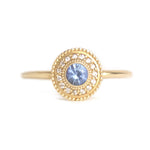Leila Blue Sapphire Diamond Ring - Manari Design