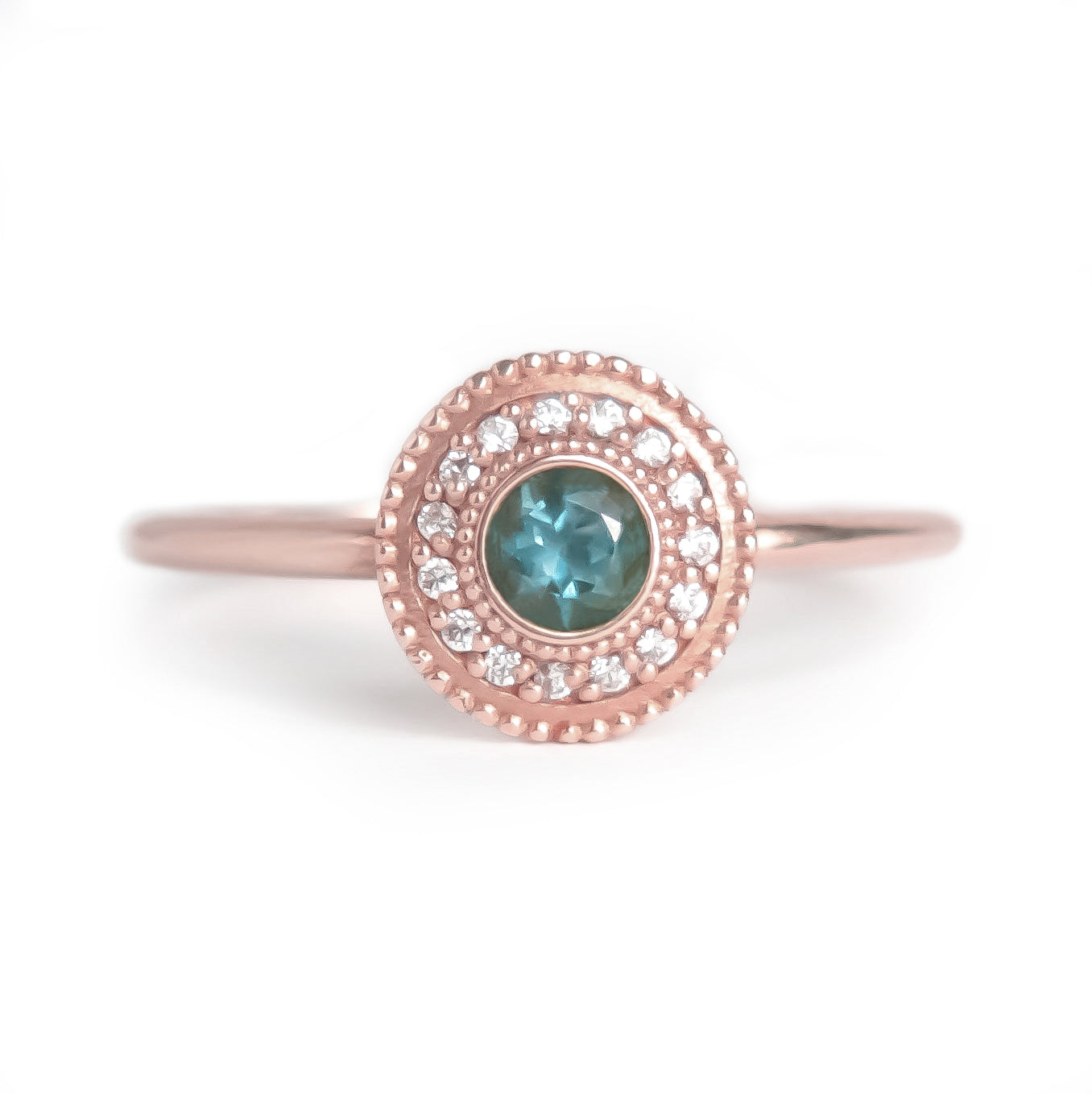 Leila Blue Topaz Diamond Ring - MANARI.eu
