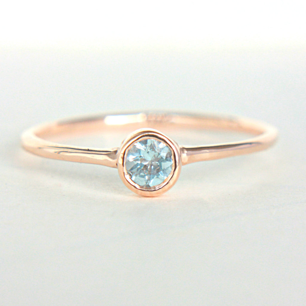 Aquamarine 14k Gold Ring - Manari Design