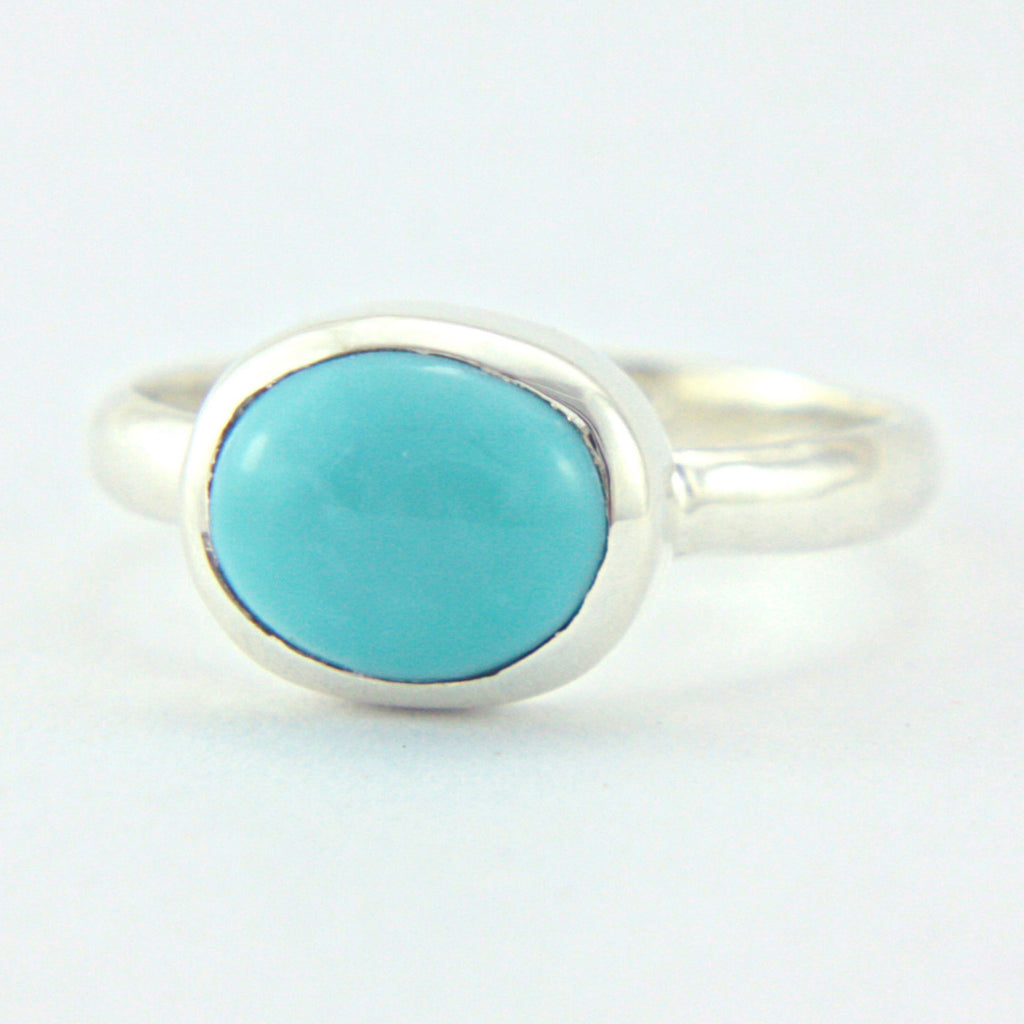 Natural Turquoise Ring Sterling Silver - Manari Design