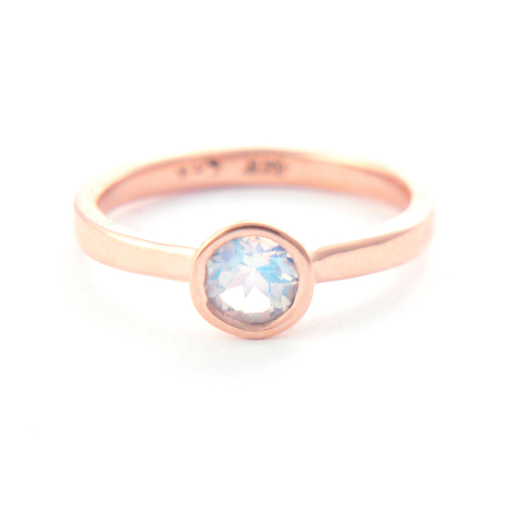Moonstone Rose 14k Gold Ring - Manari Design
