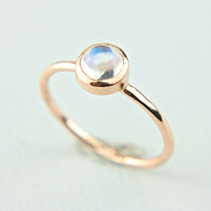 Moonstone 14k Rose Gold Ring 14k Gold - Manari Design