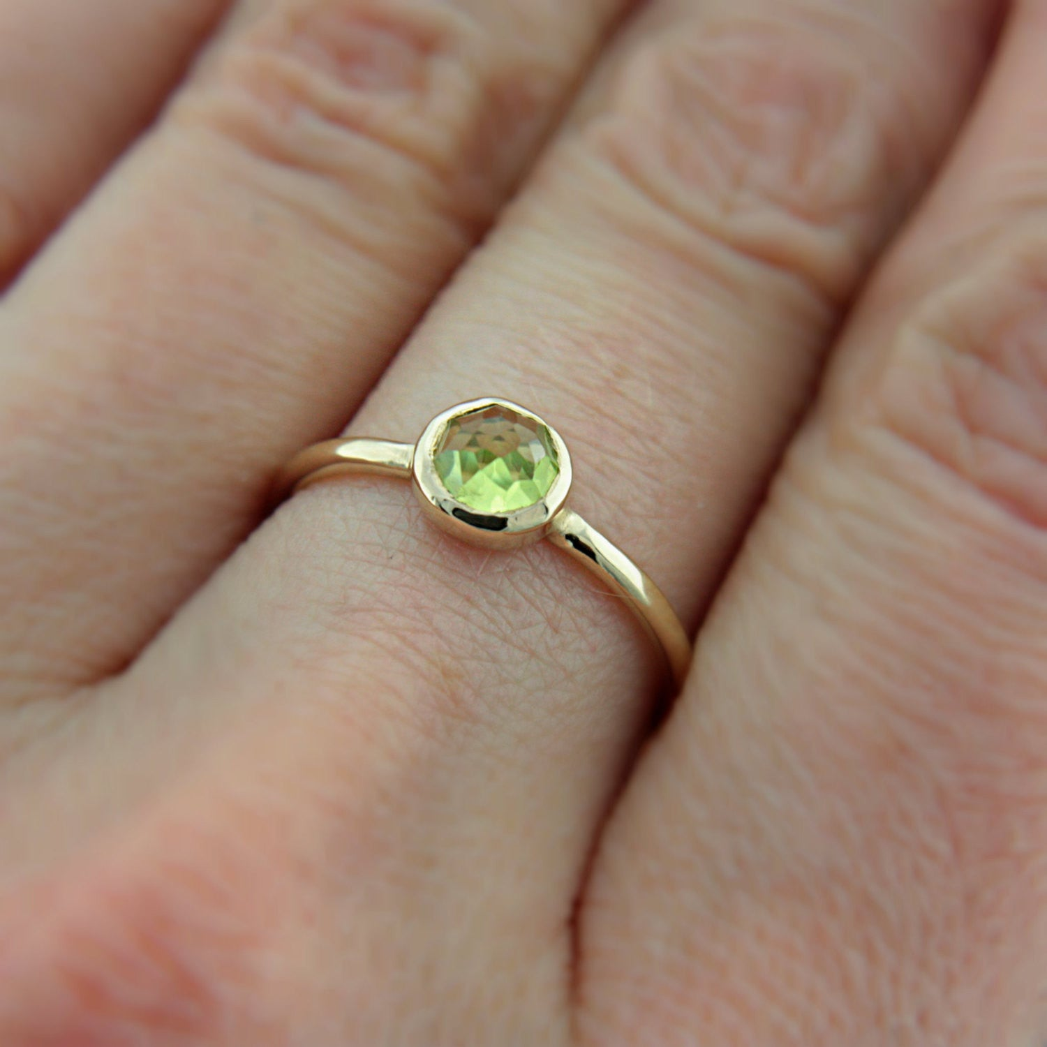Peridot 14k Rose Gold Ring - Manari Design