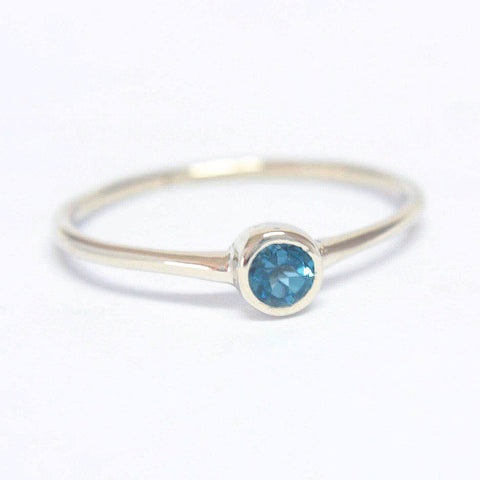 Blue Topaz 14k Gold Ring
