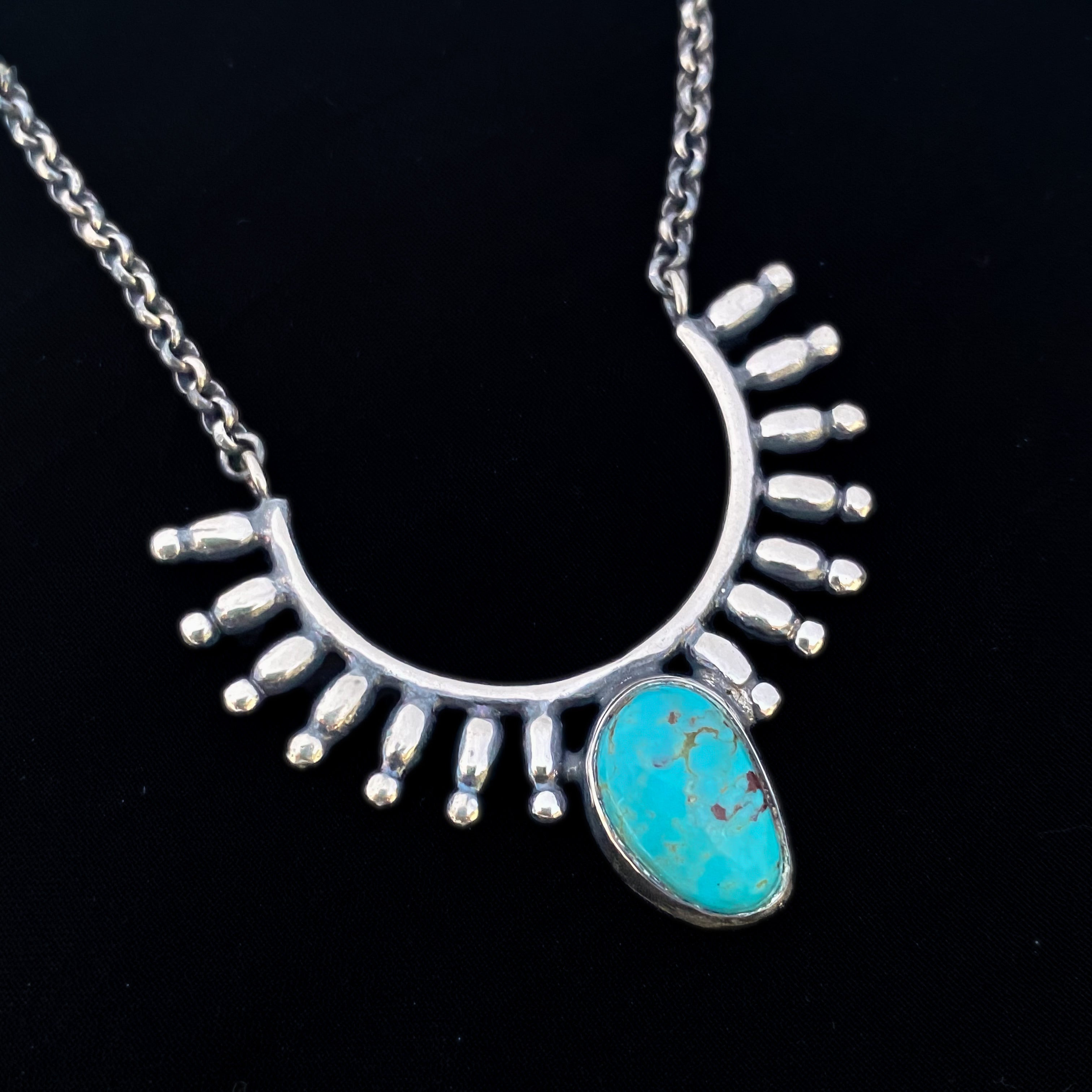 turquoise-tribal-pendant-silver
