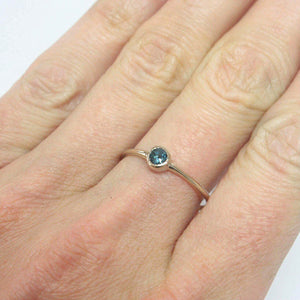 Blue Topaz 14k Gold Ring - Manari Design