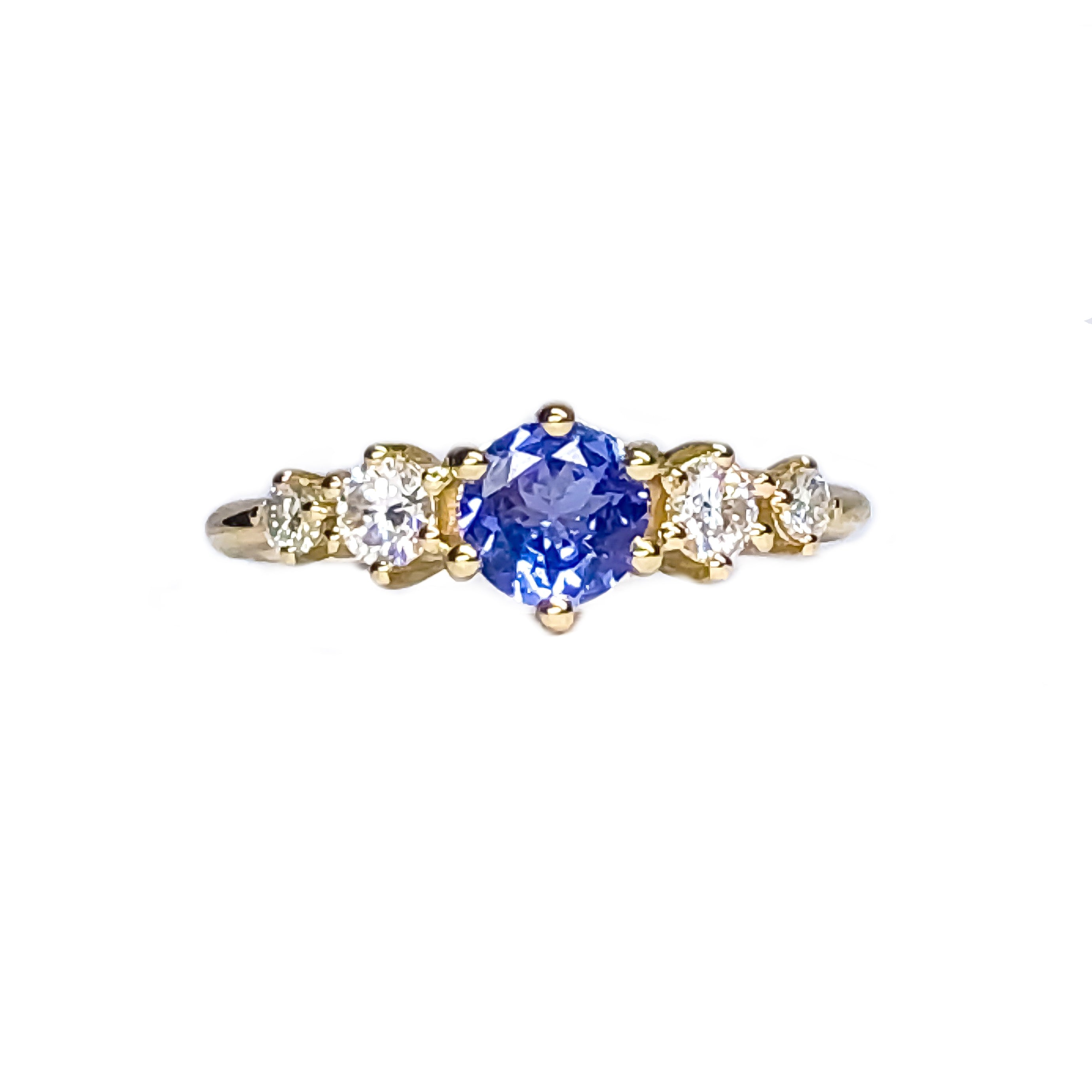 Betty Tanzanite Mossanite Ring - Manari Design