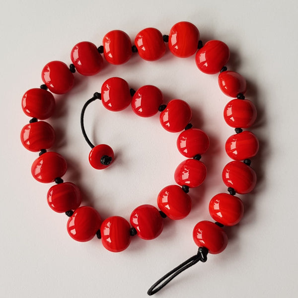 Bright Red Pebbles Necklace