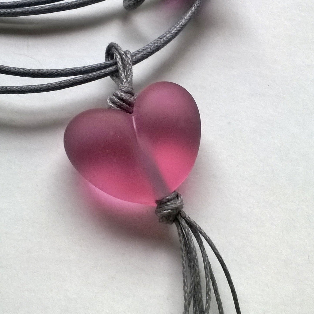 Deep Transparent Pink Heart