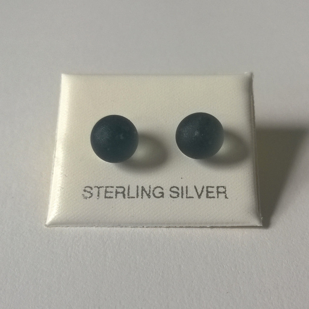 Frosted Grey Earrings