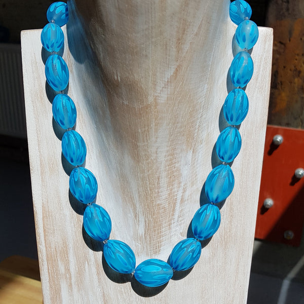 Turquoise Fish Olive Necklace