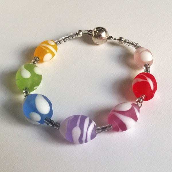 Frosted Icy Allsorts Bracelet
