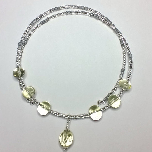 Transparent Prosecco Choker with Spiral Charm