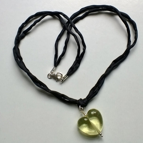 Transparent Prosecco Heart on Silk