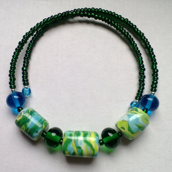 Green Blue Yellow Choker