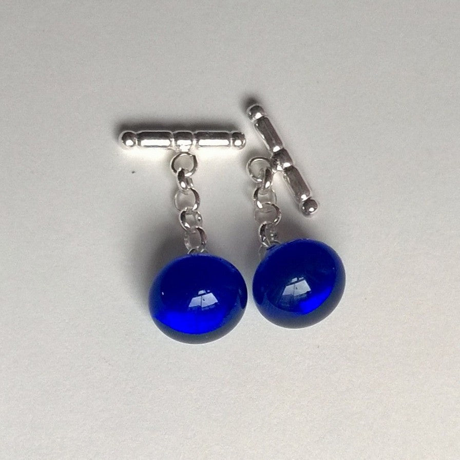 Dark Blue Transparent Cuff Links (SS)