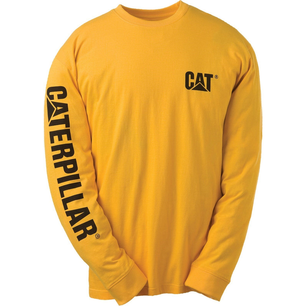 CAT Caterpillar Trademark Banner T-Shirt-ShoeShoeBeDo