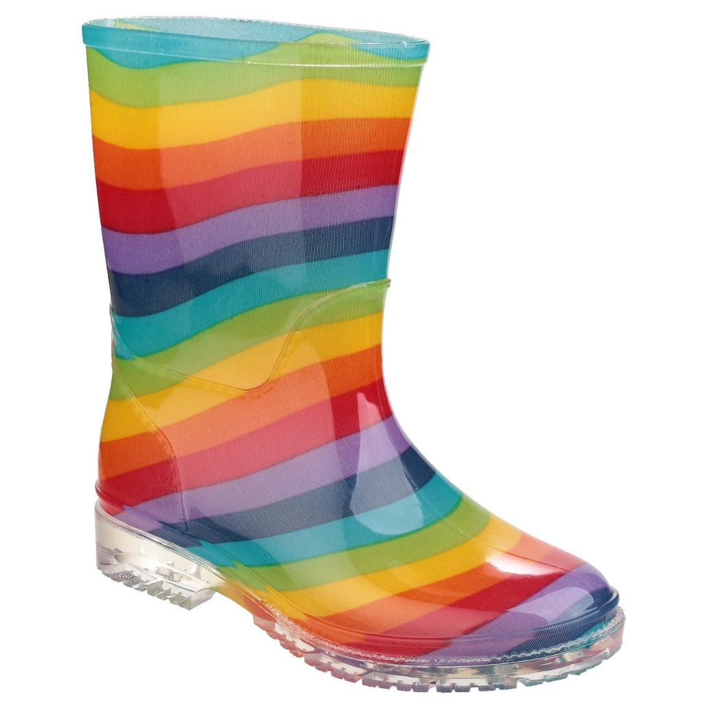 Cotswold PVC Rainbow Wellington Boots-ShoeShoeBeDo