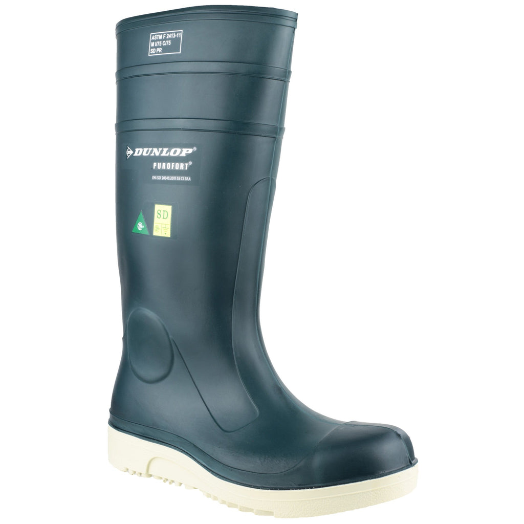 Dunlop Purofort Safety Wellingtons-ShoeShoeBeDo