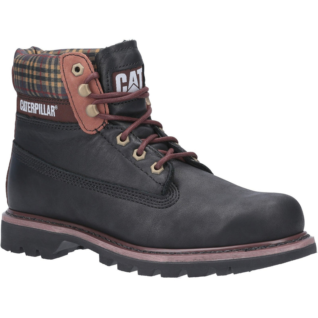 CAT Caterpillar Colorado Plaid Ankle Boots