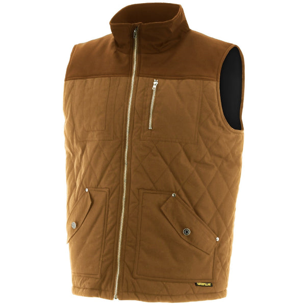 CAT Caterpillar Waxed Cotton Vest