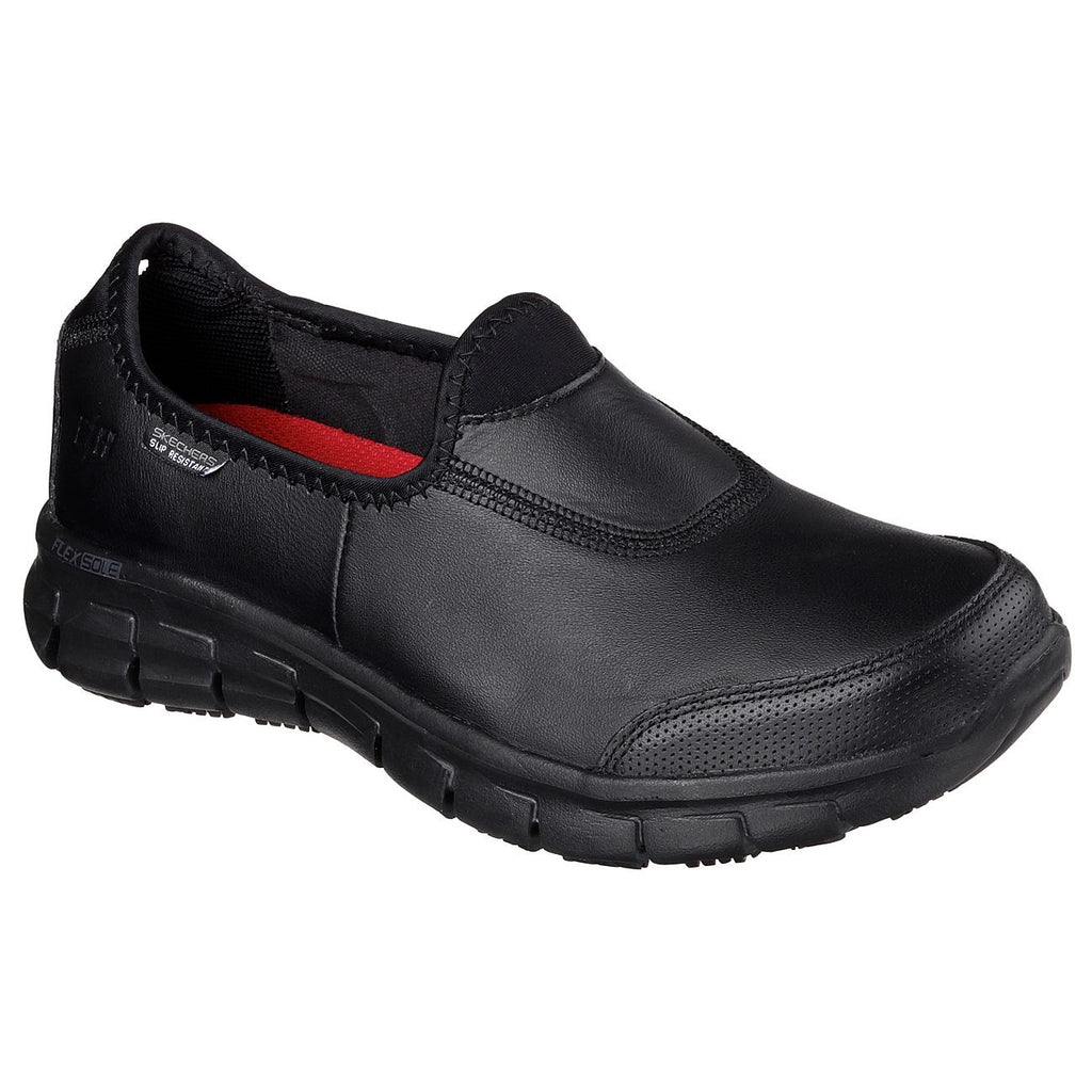 Skechers Work Relaxed Fit Sure Track Shoes-ShoeShoeBeDo