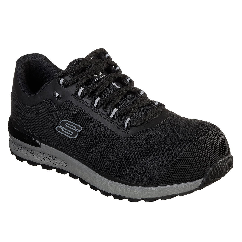 Skechers Work: Bulklin Comp Toe Safety Trainers-ShoeShoeBeDo