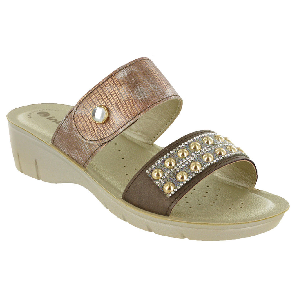 Inblu Jewelled Velcro Strap Sandals-ShoeShoeBeDo