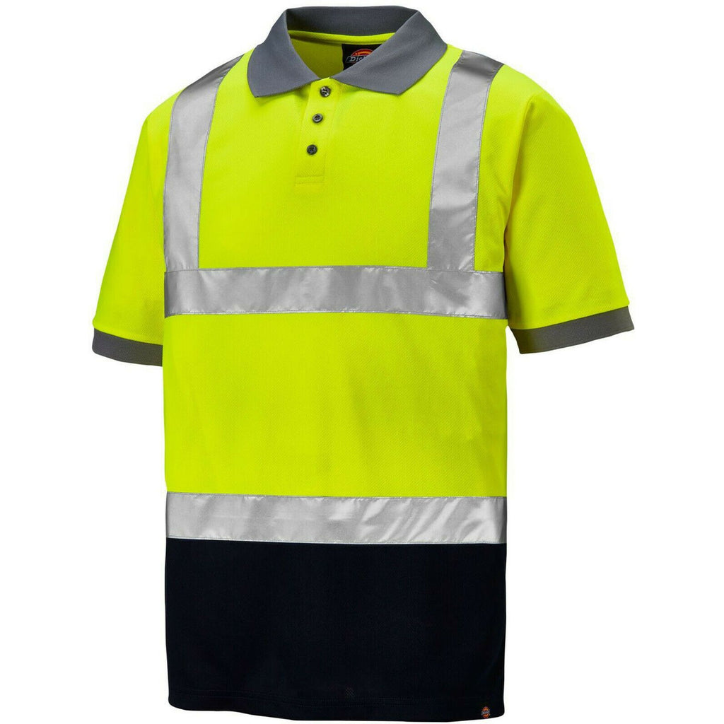 Dickies Two Tone Hi Vis Polo Shirt-ShoeShoeBeDo