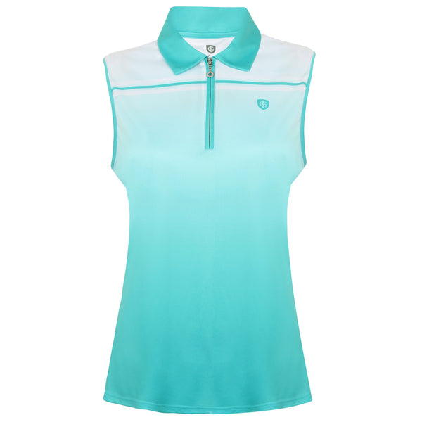 Island Green 1/4 Zip Sleeveless Polo