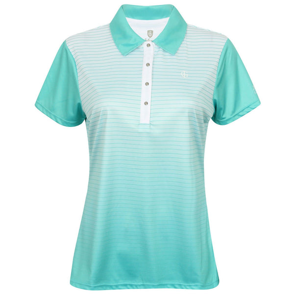 Island Green Striped Polo