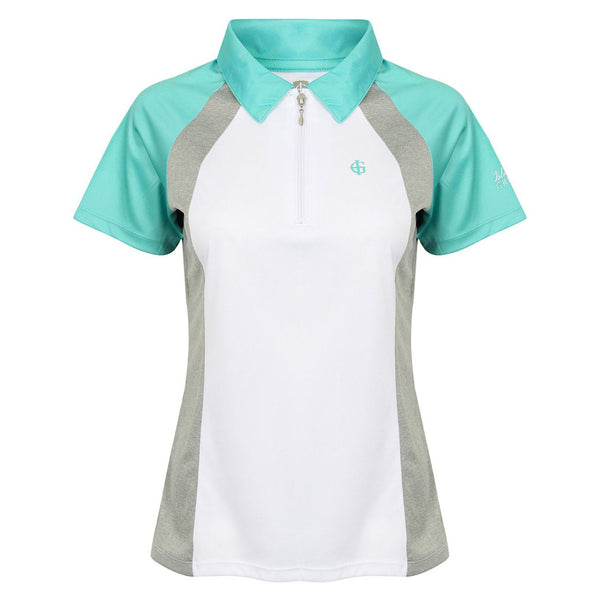 Island Green 1/4 Zip Contrast Polo