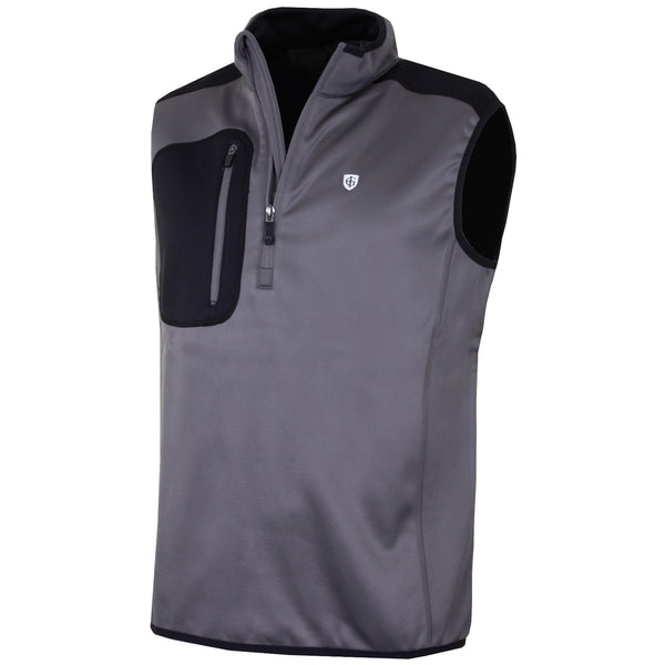 Island Green 1/2 Zip Sleeveless Fleece