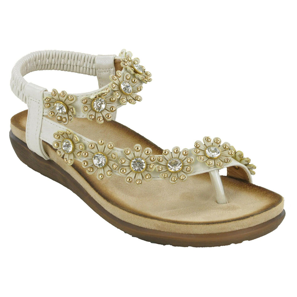 Cipriata Flower Strap Sandals-ShoeShoeBeDo