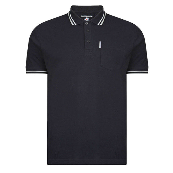 Lambretta Tipped Pocket Polo Shirts