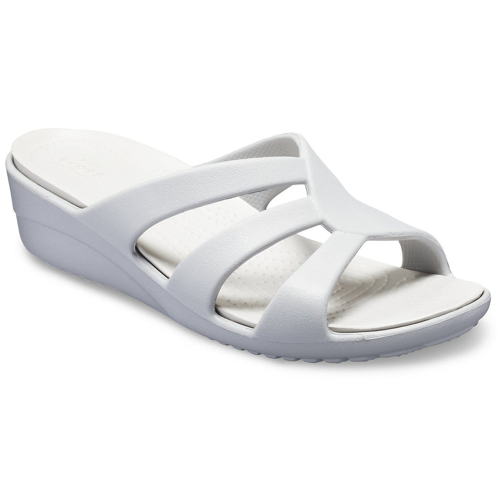 Crocs Sanrah Strappy Wedge Sandals-ShoeShoeBeDo