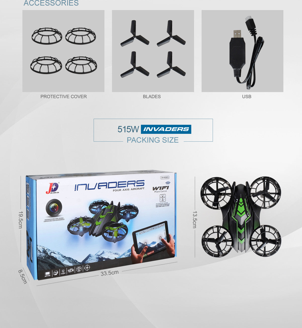 Invaders 515W Mini RC Quadcopter