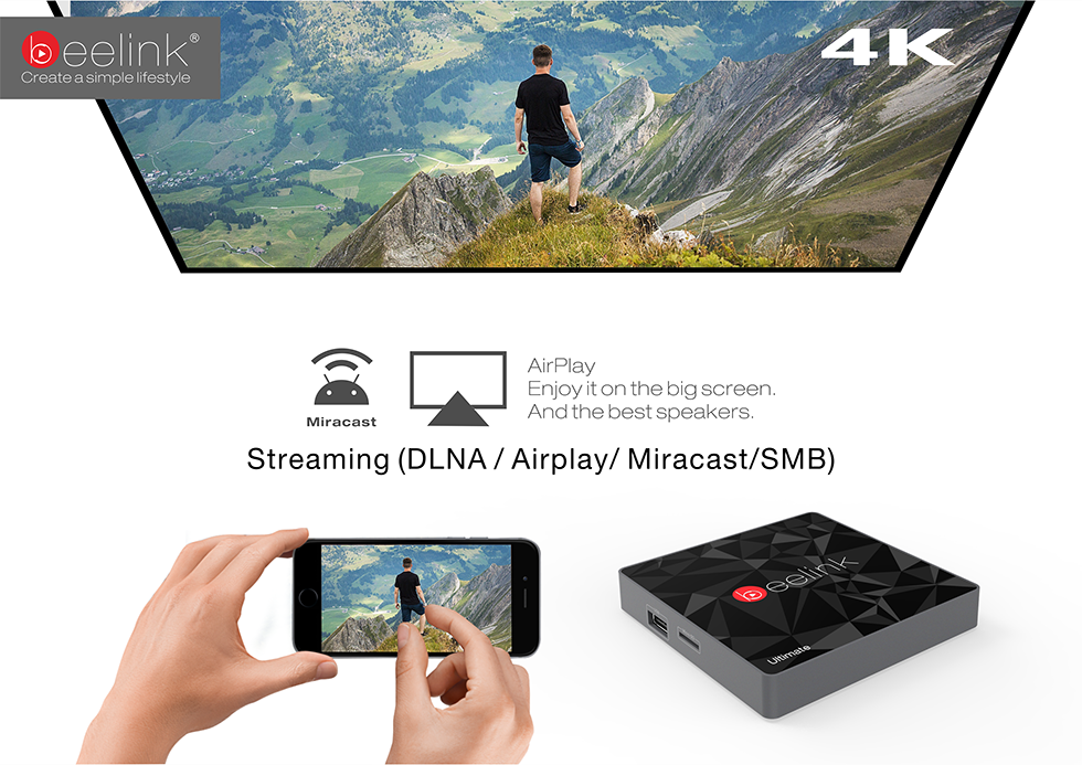 Beelink GT1 Ultimate Amlogic 912 / DDR4 3GB RAM +32GB eMMC Bluetooth 4.0 Wifi 2.4G + 5.8G TV BOX,Supports HDR10 and HLG HDR processing /Android 6.0 Smart TV Box