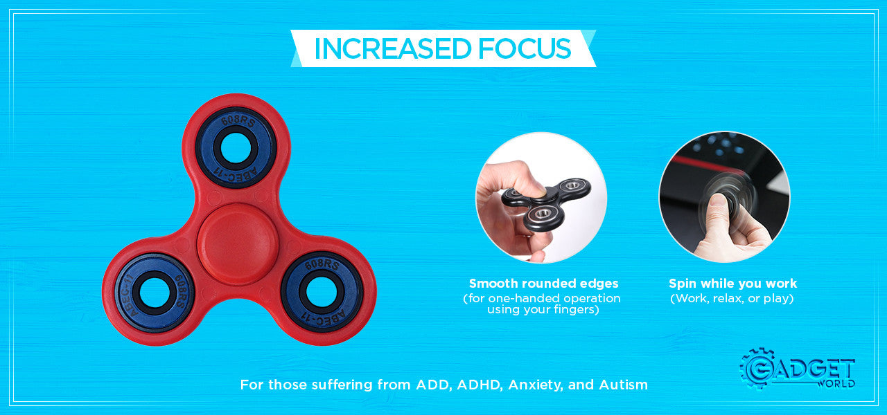 Fidget Spinner - HIGH SPEED Si3N4 Ceramic Bearing, Fast EDC Fidget Toy for Increased Focus, Stress Relief, ADHD, Autism, and Anxiety.
