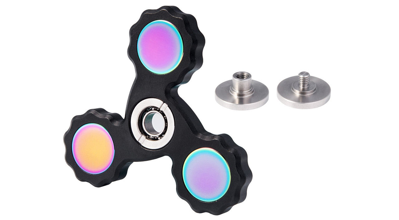 New 2017 Best Fidget Spinner Made of Aluminum Toy by Gadget World. EDC ADHD Focus Toy Ultra Durable High Speed Up to 5 Minutes Spins. Best Stress Reducer Relieves, Anti-Stress Ball Finger Gyro Focus Toy