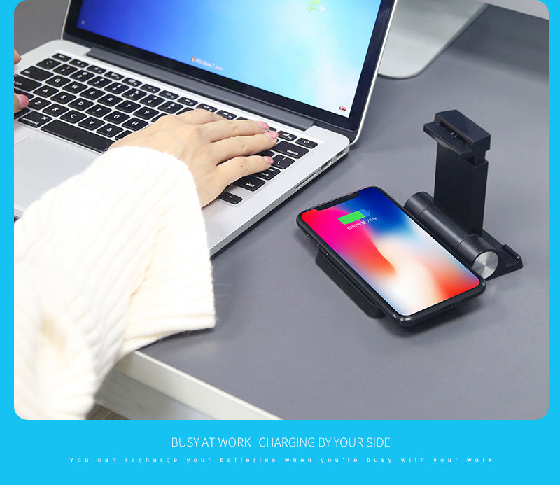 Bakeey High quality 3 in 1 Qi Wireless Charger 2600mAh Power Bank Desktop Charger and Holder For iPhone X 8Plus for Samsung S8