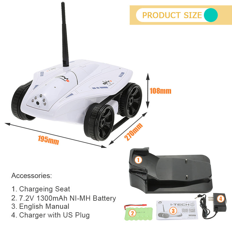 i-TECH Tank WiFi Remote Control with 0.3MP Camera