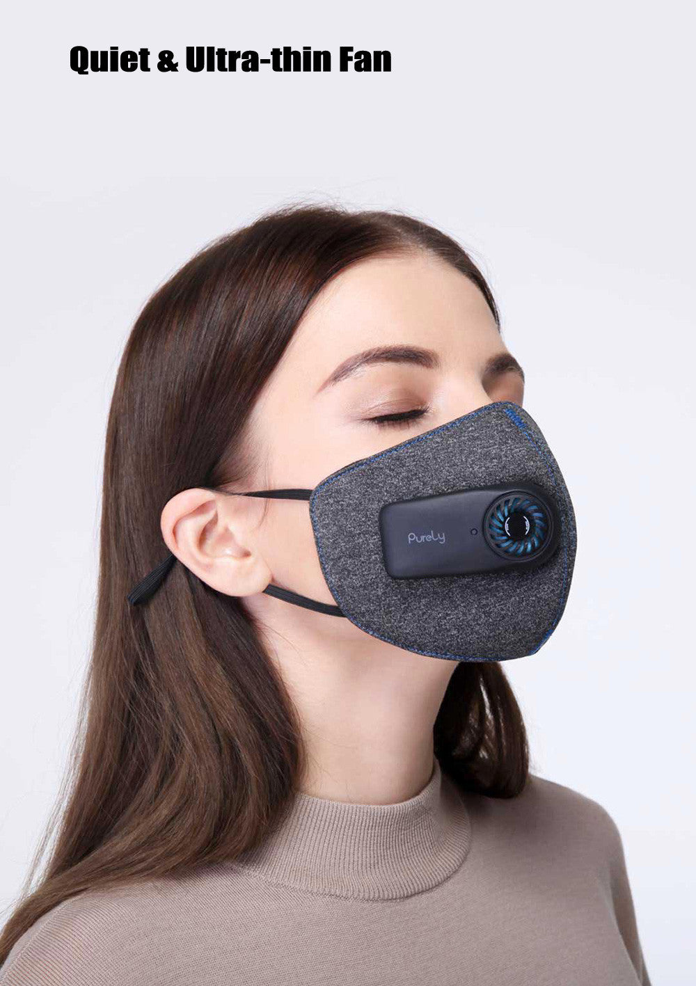 Original Product Xiaomi mijia air wearing PM0.3 Anti-fog mask Adjustable ear hanging comfortable mask black, gray, red