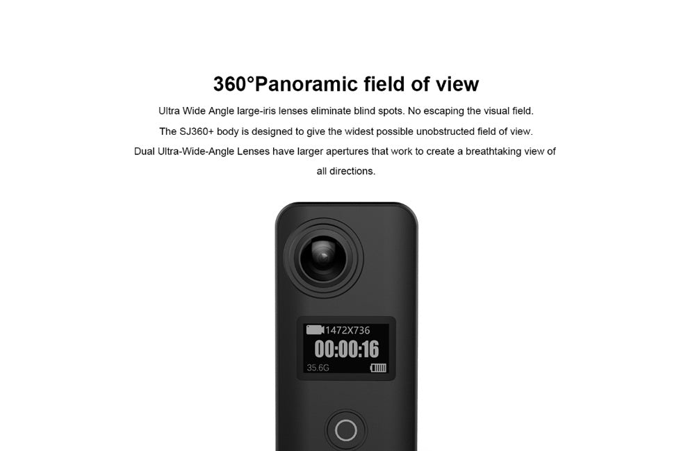 SJCAM SJ360+ Dual Lens Portable Mini Sport Action Camera Wifi Panoramic VR Full HD 1080p 360x360 Degrees Wide Angle