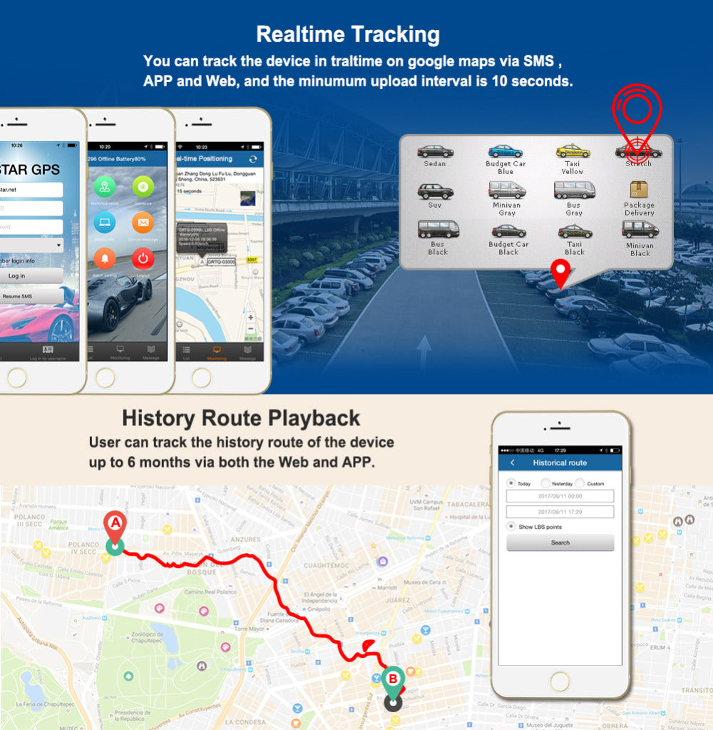 Real-Time GPS Vehicle Tracker TK905 — Gadget World