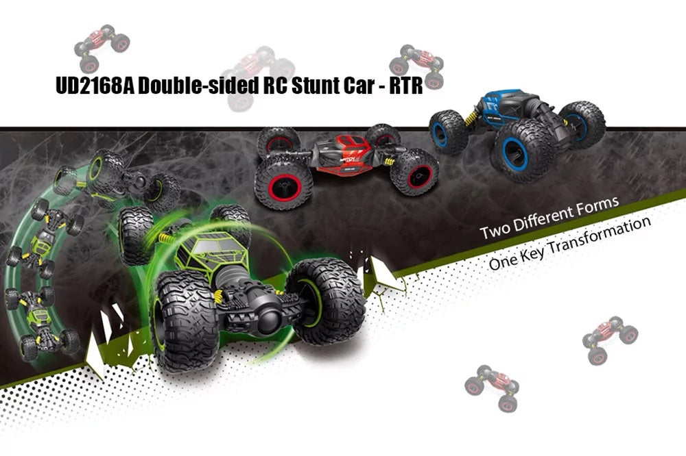 Double-Sided 2.4GHz Stunt One Key Transformation All-Terrain Climbing RC Car