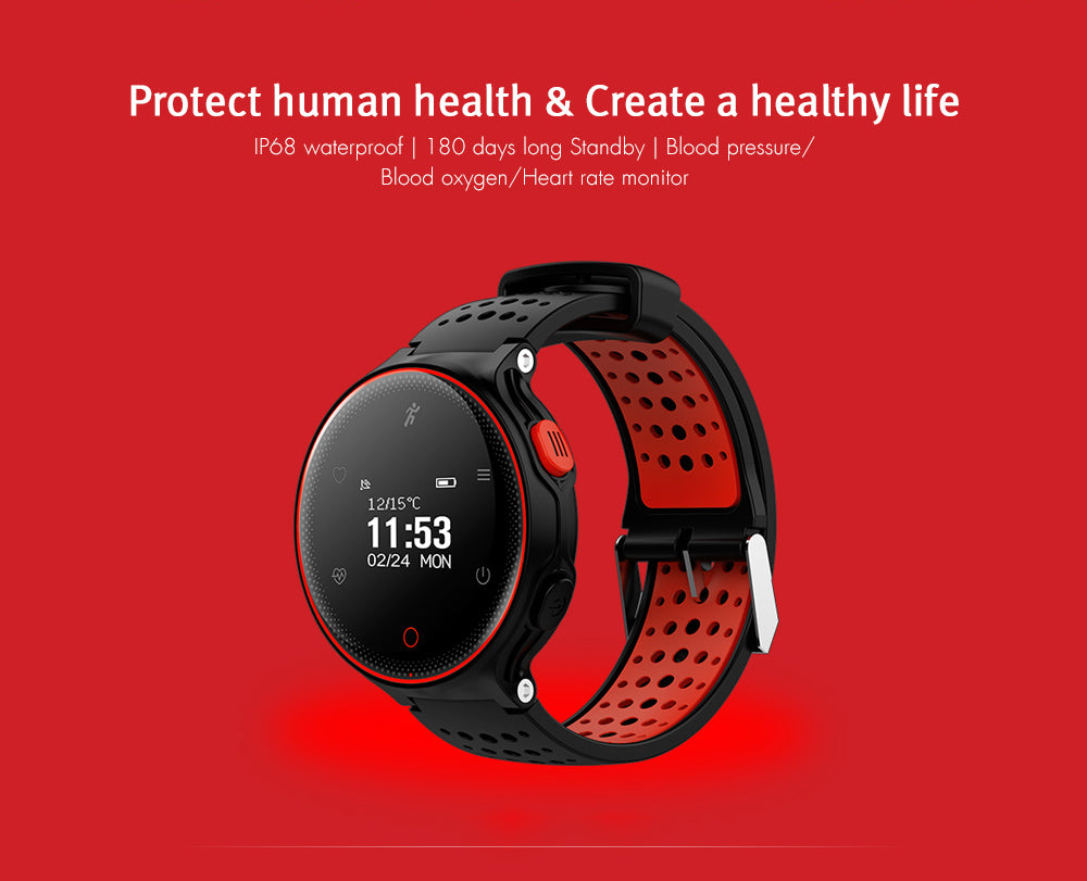 Microwear X2 Smart watch IP68 Bluetooth 4.0 Android watch Waterproof Heart Rate Monitor Pedometer kid smartwatch sport with GPS