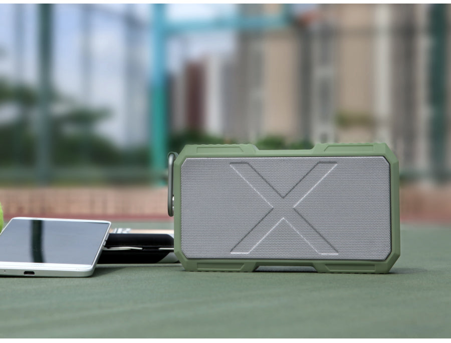 x-man bluetooth speaker and portable charger